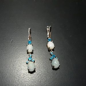 Natural Opal/ Gemstone Earrings c5